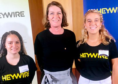ABC Heywire finalists, Jade Cicack from Broken Hill and Fenella Jamison from Narrabri.